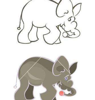 Free elephant vector - Free vector #269935