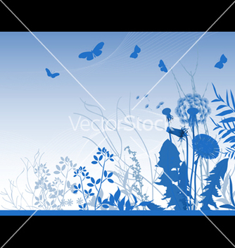 Free spring meadows background vector - Free vector #270005