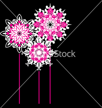 Free ornate flowers vector - Free vector #270425