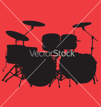 Free drum kit vector - Free vector #270565