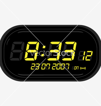 Free digital clock radio vector - vector gratuit #270575