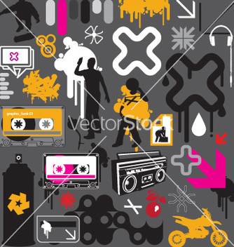Free graphic funk vector - Free vector #270615