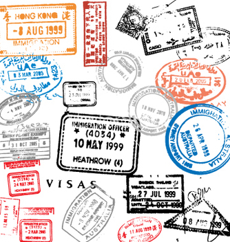 Free passport stamps vector - vector gratuit #270865