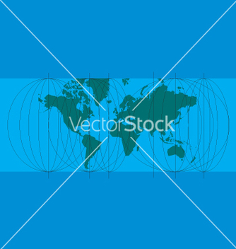 Free world map lines vector - бесплатный vector #270935