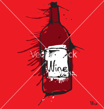 Free wine bottle vector - Free vector #270945
