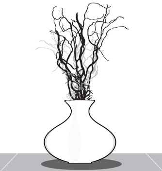 Free vase with twigs vector - vector #270955 gratis