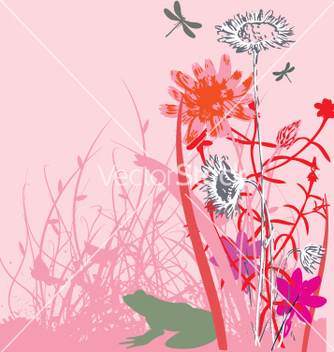 Free wild flowers vector - Free vector #270965