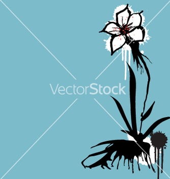 Free ink flower vector - бесплатный vector #271255