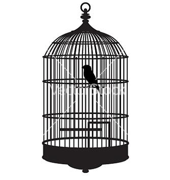 Free bird cage vector - vector gratuit #271525
