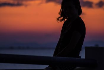 Silhouette at sunset - image gratuit(e) #271865