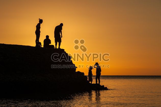 Silhouettes at sunset - Free image #271875