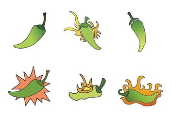 Free Green Hot Pepper Vector Series - Kostenloses vector #272715