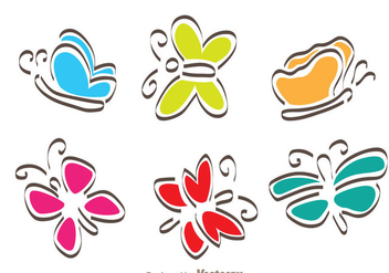 Cartoon Butterfly - vector gratuit #272745