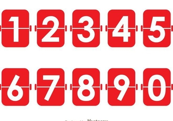 Red Number Counter - vector gratuit #272845