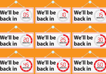 We'll Be Back Signs - Free vector #272865