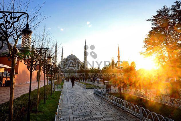 Mosquée du Sultan Ahmet au coucher du soleil - image gratuit #272995