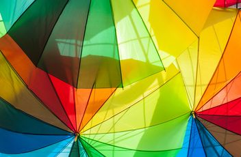 Rainbow umbrellas - Free image #273135