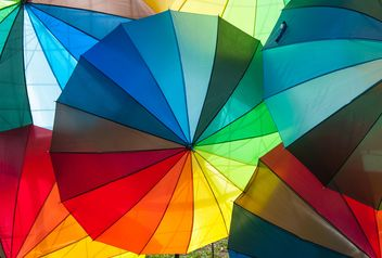 Rainbow umbrellas - image #273145 gratis