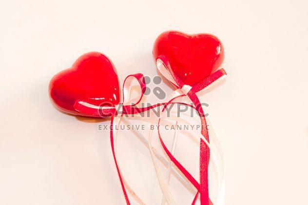 zwei rote Herzen - Kostenloses image #273195