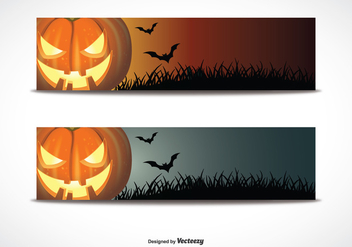 Halloween Banner Set - Free vector #273285