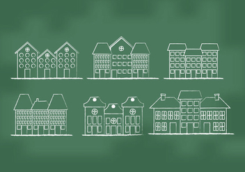 Town Homes Vectors - vector gratuit #273315