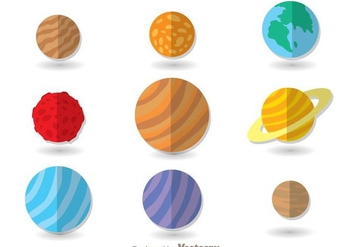 Planets Flat Icons - Free vector #273335