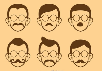 Retro Man Icons - Free vector #273405