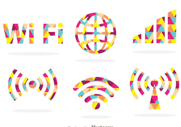 Colorful Wifi Symbol - vector gratuit #273415
