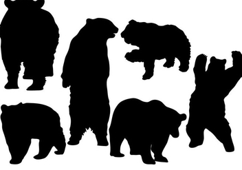 Free Bear Silhouette Vector - Free vector #273425