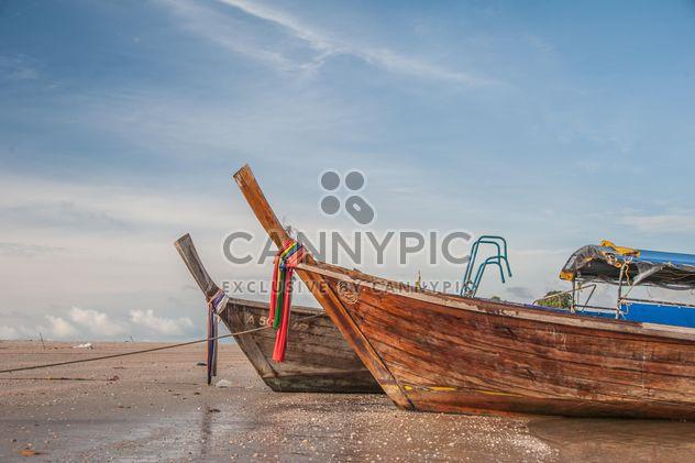 Barcos de pesca em mar - Free image #273535