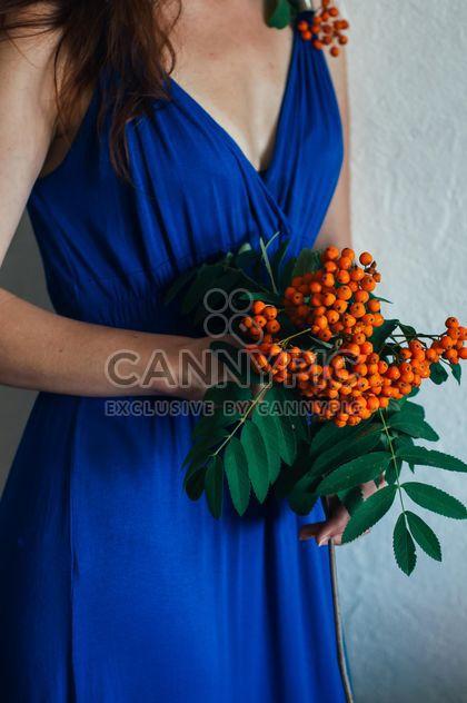 Rowan branch in hands of woman - Free image #273935