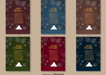 Christmas vouchers - Free vector #273995