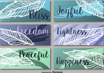 Colorful leaf banners - Free vector #274005
