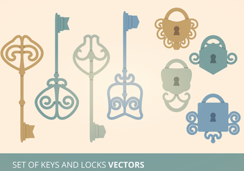Keys and Locks Vector Illustration - Free vector #274015