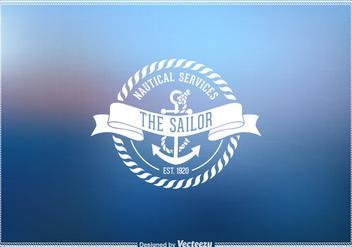 Free Vector Vintage Nautical Emblem - Kostenloses vector #274035