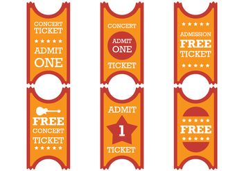 Old Red Orange Ticket - vector gratuit #274195