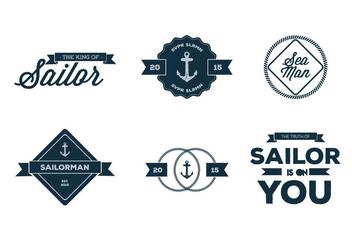 Old Nautica Typography Vectors - vector gratuit #274225