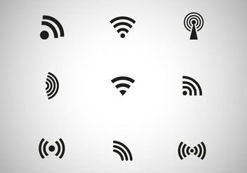 Free Black Wireless Icon Vector - vector gratuit #274285