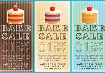 Bake Sale Flyers - бесплатный vector #274355