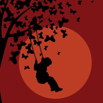 Cradle Butterflies Tree Sunset Sky - vector gratuit #274525