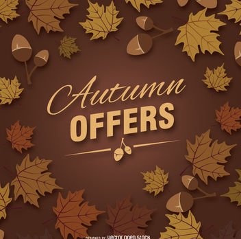 Autumn offers graphic - vector gratuit #274565