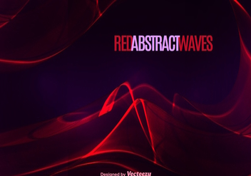Abstract red wave - Free vector #274585
