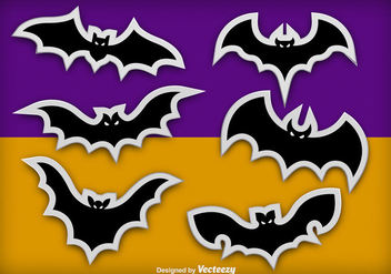 Bats stickers - vector gratuit #274595