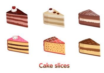 Cake Slice Vectors - vector gratuit #274615
