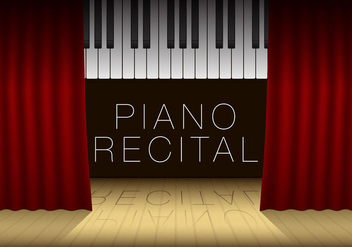 Piano Recital Template - vector gratuit #274635