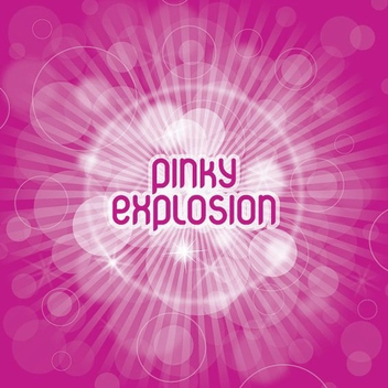 Pink Explosion Sunburst Background - vector gratuit #274815
