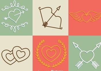 Valentine Days Line Icons - vector #275245 gratis