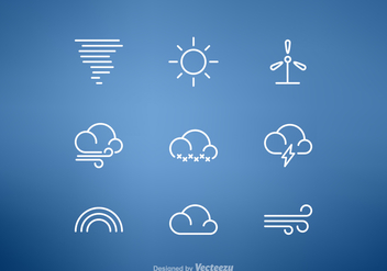 Free Weather Line Vector Icon Set - Free vector #275255