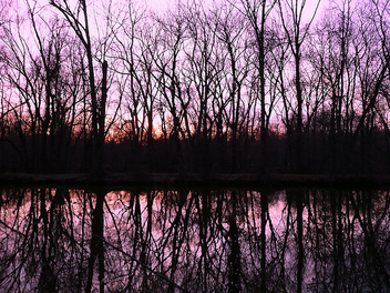 Sunset on the D&R Canal - Kostenloses image #277925