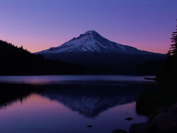 Mt. Hood @ sunset from Trillium Lake - image gratuit #280135